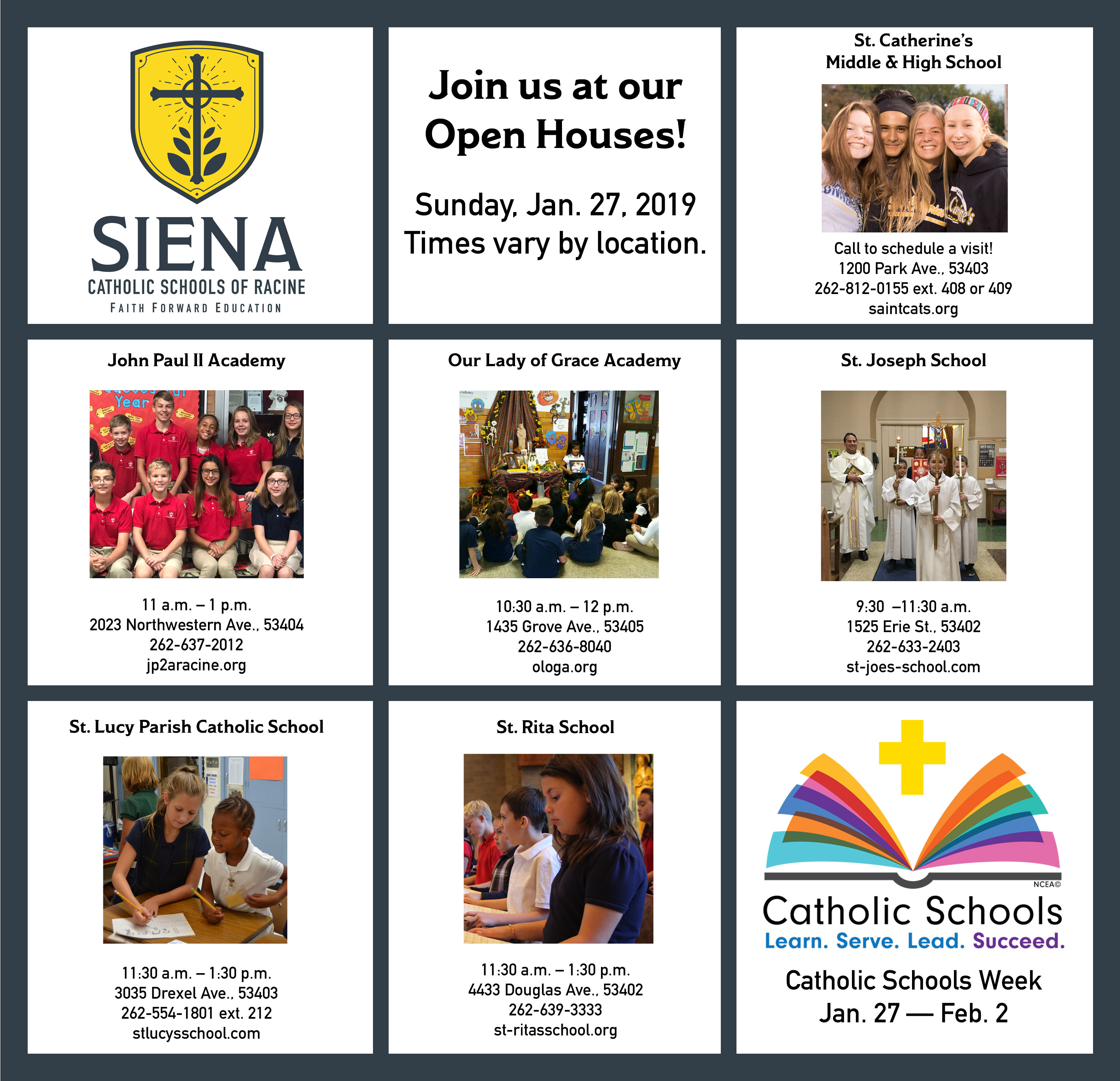 Catholic Schools Week Open Houses!
